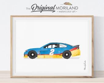 Race Car Print, Racing Car Printable, Transportation Wall Art, Prints for Toddlers, Race Car Decor, Boys Room Decor