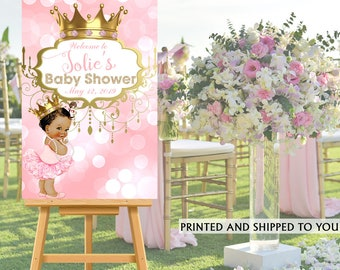 Baby Princess Welcome Sign, Welcome To The Party Sign, Little Princess  Welcome Sign,