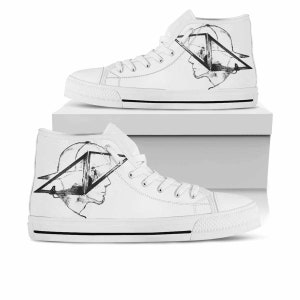 Dj Avicii, Dj Avicii Shoes, Dj Avicii White High Top, DJ Avicii Custom