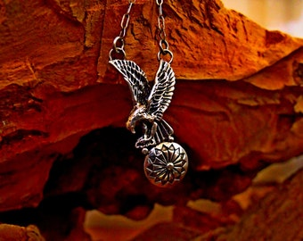 Sterling Silver Eagle Necklace RF265