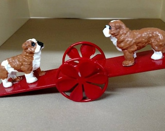 English Bulldogs On A SeeSaw