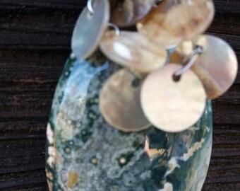 OceAn JaSPeR Abalone DanGles CUSTOM MaDe to ORDeR Handmade PenDent. Pnd333