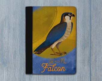 Falcon / ancient egyptian falcon padfolio / Gift for falcon lovers / notebook with hieroglyphs