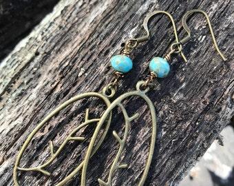 Bronze Branch Earrings