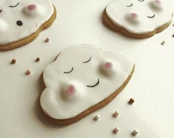 3 Get Well Soon Cloud Kawaii Cookies