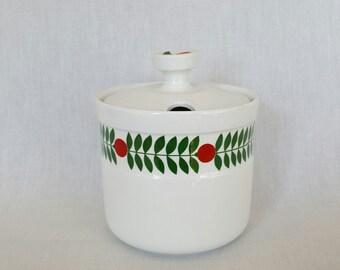 Beautiful large jam pot delikatess by Karin Björgvist for Gustavsberg Sweden vintage 1960 - 1970