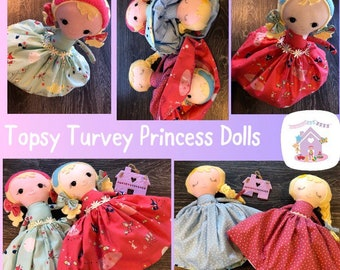Topsy-Turvey Doll - Handmade Two In One Soft Doll Made to Order