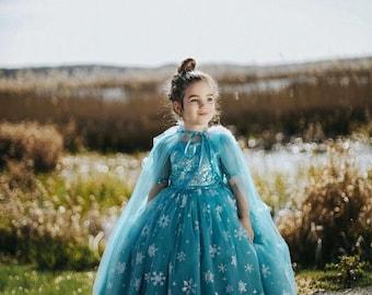 Custom Handmade Kids Dress Frozen Dress Birthday Party Dress Frozen Costume Elsa Costume