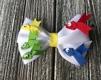 "Dr. Suess's ""One Fish Two Fish Red Fish Blue Fish"" Hair Bow"