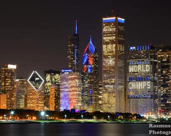 Chicago Cubs Win World Series Champs Skyline Photos Photo 16x20