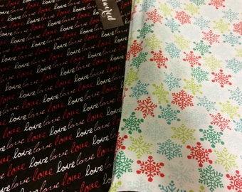 Reversible Holiday Pillow Case - Valentine's Day and Christmas