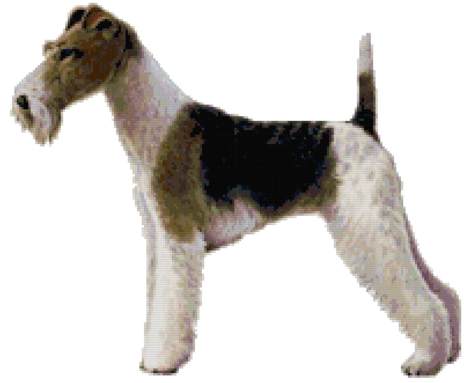 Wire Fox Terrier Dog Counted Cross Stitch Pattern from ...