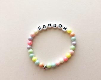 Random Bracelet, Fairy Kei Bracelet, Gifts For Teens, Pastel Jewelry, Rainbow Bracelet, Kawaii Bracelet, Pastel Goth, Fairy Kei Jewelry