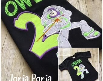 Buzz Lightyear Inspired Birthday Shirt