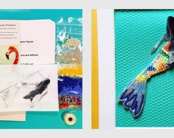 My Tiny Mermaid Bead Embroidery Kit and Tutorial