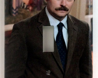 Ron Swanson Single Light Switch Plate Cover