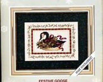 Festive Goose Counted Cross Stitch