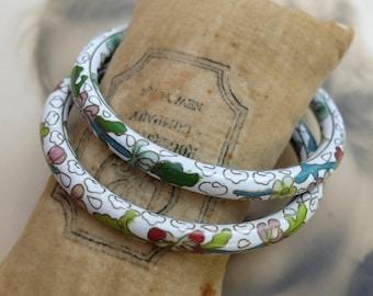 2 Vintage Cloisonne Bangle Bracelets