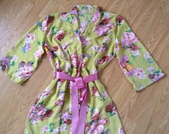 Set of 5 Bridesmaid robes, bride robe, getting ready robe, wedding robe, bridesmaid gift, floral robe