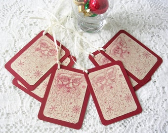 Holiday Gift Tags - Old World Santa Christmas Tags - Christmas Gift Tags - Rustic Christmas Tags - Santa Tags - Gift Wrap