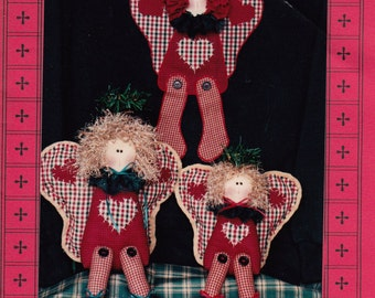 Angelic Friends Soft Sculpture Angels from Stuff-n-Stitches UNCUT Pattern Rare and OOP