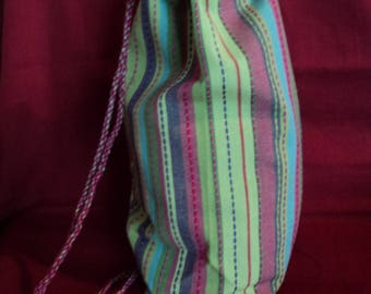 Or to wear Crossbody multicolored cotton backpack