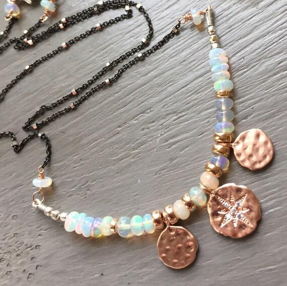 Opal Necklace Ethiopian Opal Necklace