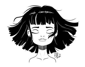 Custom portrait black and white - Custom illustration portrait - Cartoon yourself - Online caricature