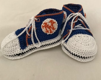 Hightop Booties in New York Mets Colors