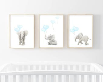 Nursery Art Prints, Nursery Decor, Elephant Art, Elephant Art Prints, Nursery  Wall Art, Nursery Art Prints, Elephants, Elephant Wall Art,