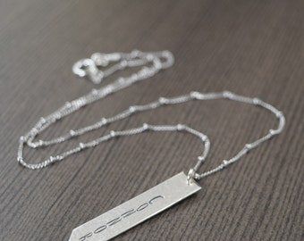 Custom name necklace personalized in sterling silver Mother's day gifts for her