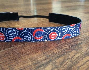 Chicago Cubs headband. Chicago Cubs baseball, Cubs headband, Chicago baseball headband, women's headband, girls headband, hair accessory