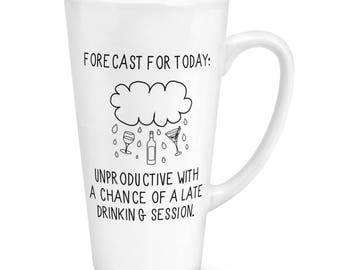 Forecast For Today 17oz Large Latte Mug Cup