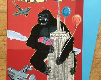 King Kong Birthday Card