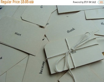 ONSALE One Dozen  Vintage Word Flash Cards
