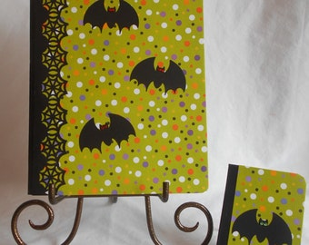 ALTERED COMPOSITION NOTEBOOK Halloween + Halloween mini notebook + pencil