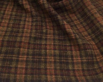 Mud Pie Plaid, 100% Felted Wool for Rug Hooking, Wool Applique and Crafts