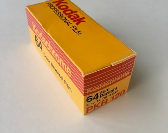 SALE - Unopened Box - Kodachrome 64 PKR 120 Film - EXPIRED - Color Film, Transparency Film