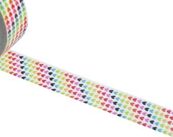 Rainbow Hearts Washi Masking Decorative Tape.
