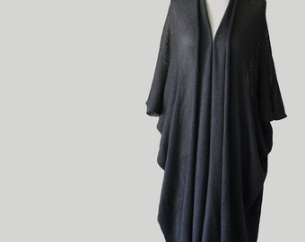 Black poncho, Long cardigan, Womens poncho, oversized sweater, loose sweaters, kimono sweater,long sweater,womens cardigan,kimono boho,abaya