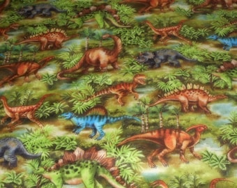 "Brand New Dinosaur's 100% Cotton Fabric 36""L  x 44""W"