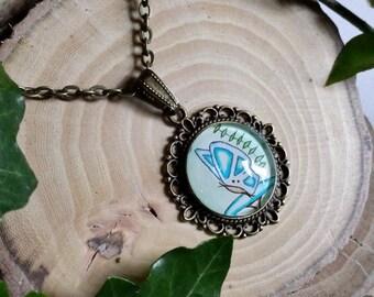 Chep - Original Art Butterfly Pendant - Jewellery - Necklace
