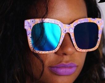 Purple Poui | Hand Painted | Sunglasses| Non Tested| Fashion Accessories