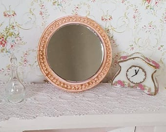 Dollhouse Mirror,Dollhouse Miniatures,Dollhouse Antique Mirror,Shabby Chic Miniatures,12th Scale Decor,Dollhouse Shabby Chic