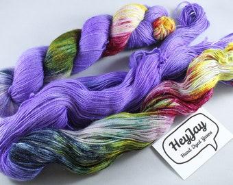 Hand Dyed Sparkle Merino Sock Yarn - Alien