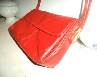Vintage Cherry RED Cross Body purse ~ Retro shoulder bag