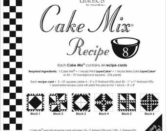 Cake Mix Recipe 8 by Miss Rosie's Quilt Co. for Moda Fabrics - Each Recipe Pad contains 44 Recipe Cards