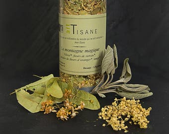 """Herbal organic """"the Mountain magic"""", an infusion of late afternoon"""
