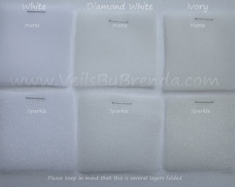 Sample Swatch for Bridal Illusion Tulle Veil