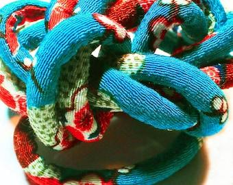 Japanese Chirimen kimono fabric cord - Oriental jewelry - Fabric cord - Diy jewelry c61